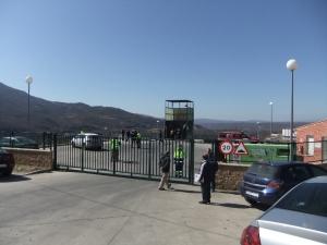 Planta de trasferencia en Béjar momentos después del suceso.