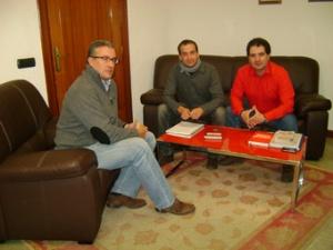 Encuentro de los representantes de CCOO con el Alcalde de Guijuelo