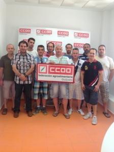 Delegados y delegadas de CCOO del sector agroalimentario de Salamanca se reúnen en Guijuelo