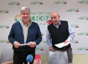 Los responsables de UPA y COAG, Julio López (i) y Aurelio Pérez (d). Foto Europa Press