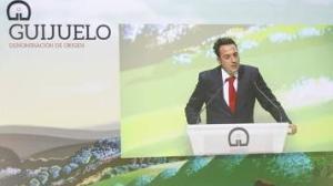 El presidente de la DO Guijuelo, Juan Carlos González, durante la presentación del acto.